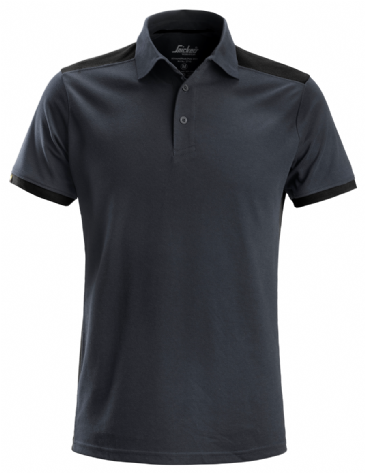 Snickers 2715 AllroundWork Contrast Polo Shirt (Steel Grey / Black)